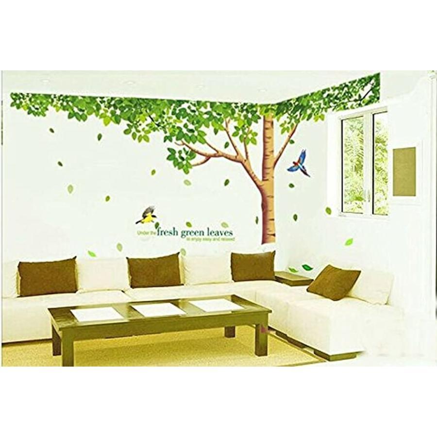 選択 新着 ウォールステッカー 樹木 新緑 鳥 仕上296x225cm シール MDM 1種3枚 インテリア 壁紙 リビング