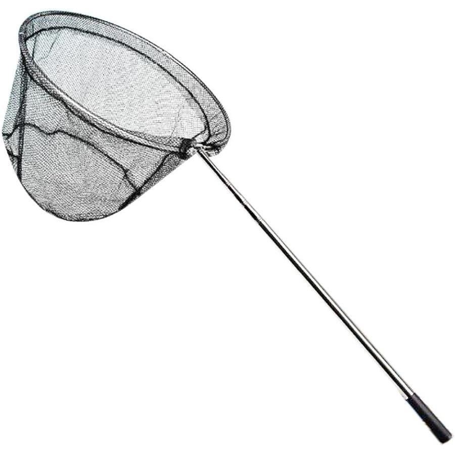 伸縮3段階 タモ網 ステンレス製ハンドル 207cm ワンタッチ 送料無料(一部地域を除く) ランディングネット 折り畳み式 可能 長さ 魚取り 釣り具 水切り お見舞い 調節