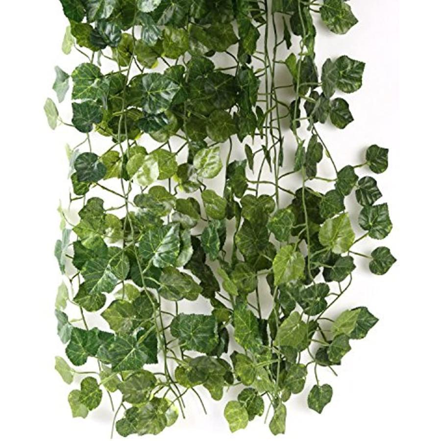 メイルオーダー スプレンノ 人工観葉植物 造花 引出物 12本 セット フェイクグリーン ブドウ 付き 結束バンド すぐに使える