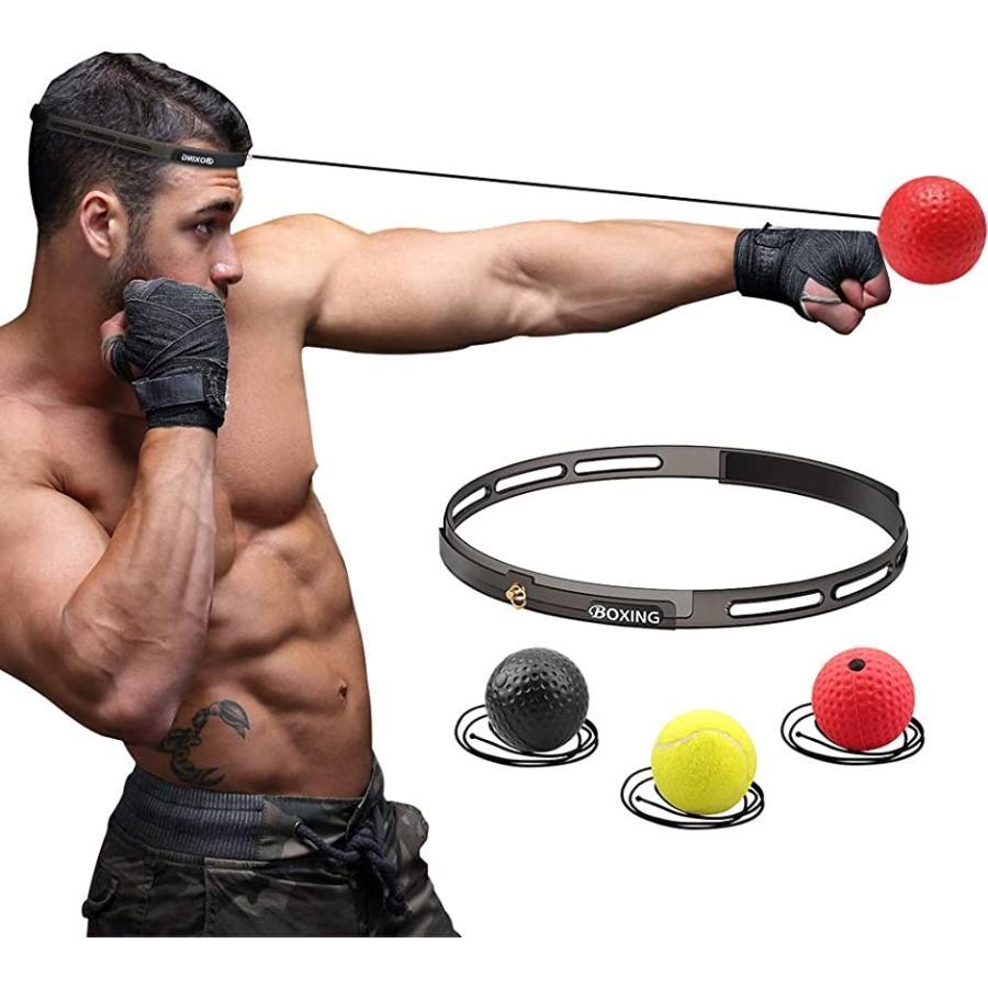 ボクシングボール パンチングボール 格闘技 打撃練習 軽量 安全 シリコンヘッドバンド1 練習用ボール 安い 動体視力 反射神経 迅速な反応
