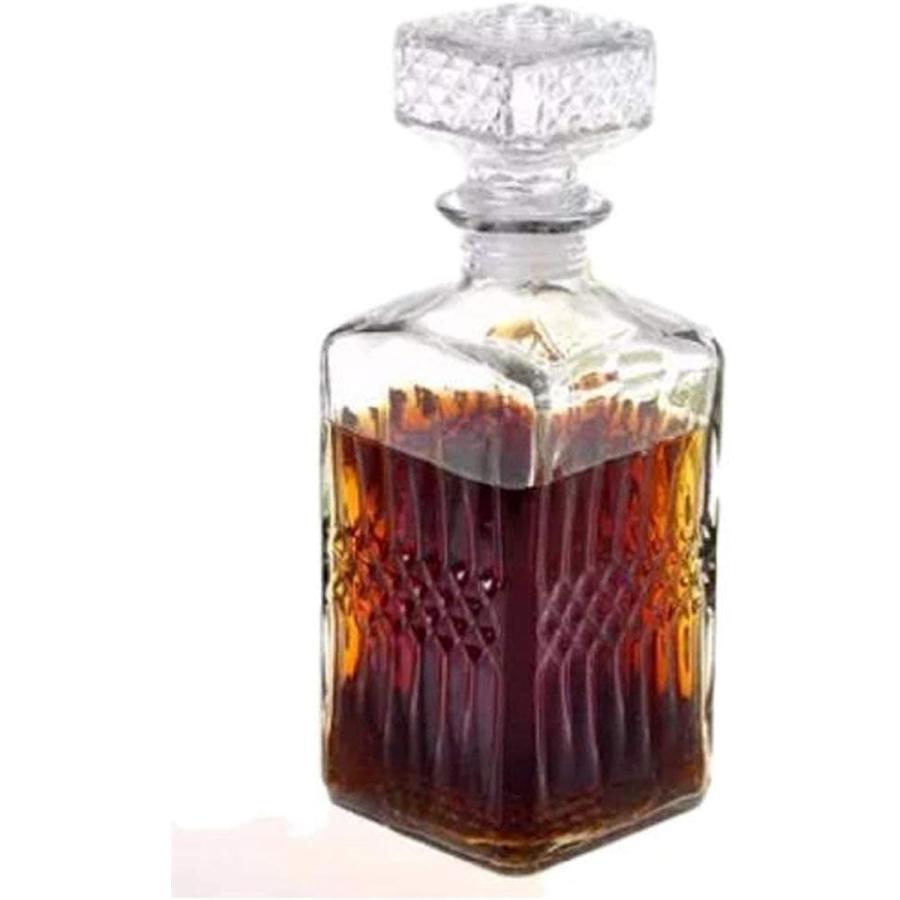 出群 morningplace ヴィンテージ風 ワイン ウィスキー グラス デキャンタ 訳あり品送料無料 スクエア. クリスタル 1000ml ボトル