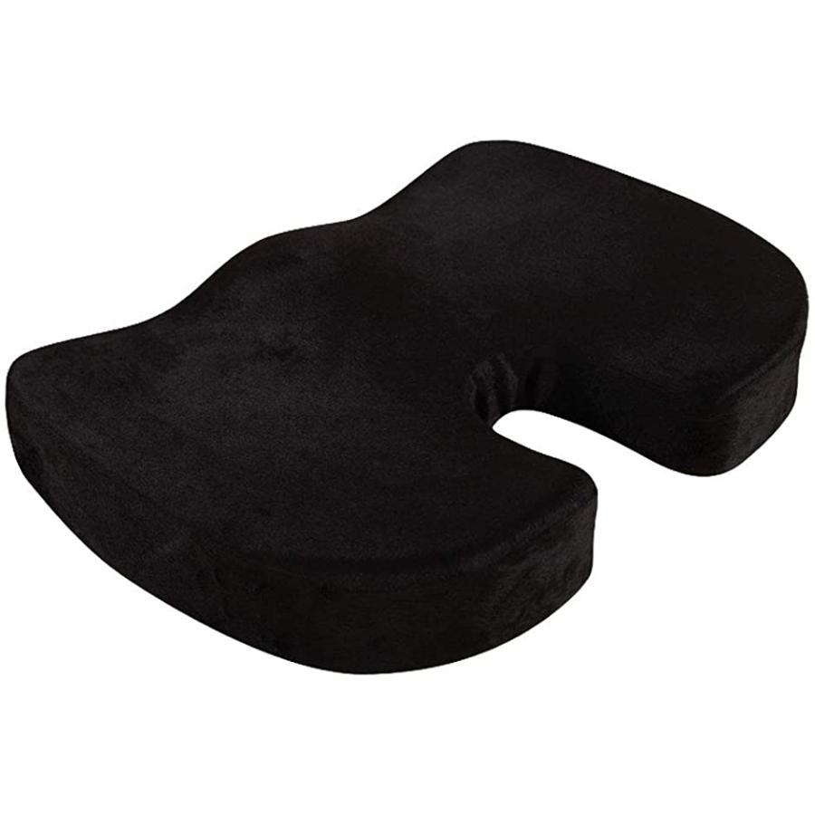 美尻 クッション 座布団 低反発 姿勢 サポート 品質保証 MDM 通気性 ブラック お歳暮 骨盤