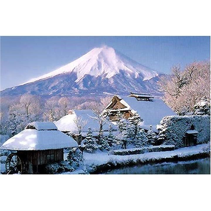 1000ピース ジグソーパズル 雪の忍野富士 50x75cm[RS13-217]