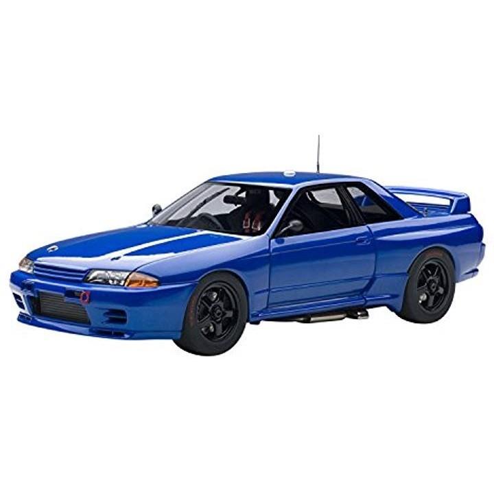 1/18 日産 スカイライン R32 GT-R ATCC バサースト プレーンボディ ベイサイドブルー 完成品[89281]
