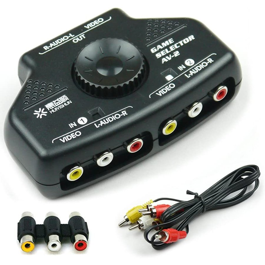簡単切替 2ポート AV切替機 送料無料カード決済可能 ビデオ KR-SEL002 送料無料 新品 ブラック セレクター