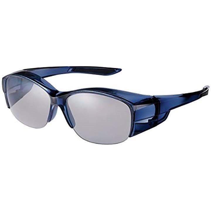 サングラス メガネの上からかける オーバーグラス 偏光レンズモデル OG5-0051 SCLA[OG5-0051 SCLA](クリアスモーク)