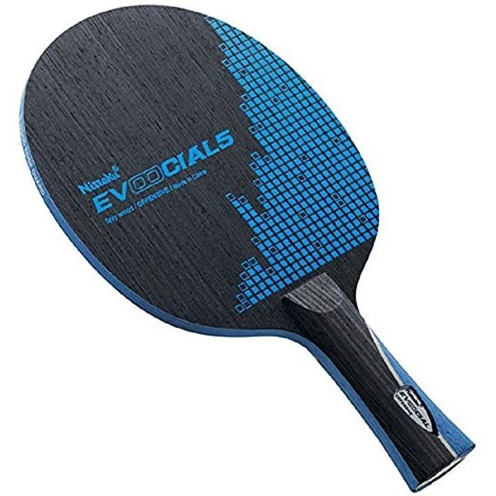 卓球 ラケット エボーシャル 5 フレア[FL][NE-6144](ブラック×ブルー, フレア)