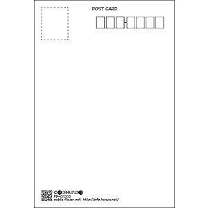 花のポストカード スプレーギク(オレンジ) horiya-studio 03