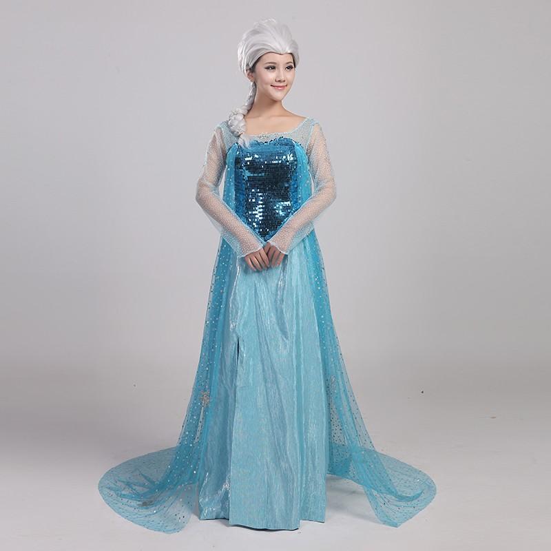 M56 ハロウィン 女性用 アナ雪 ワンピース 女王 プリンセスドレス お姫様 コスプレ レディース なりきりワンピース 大きいサイズ ロングドレス