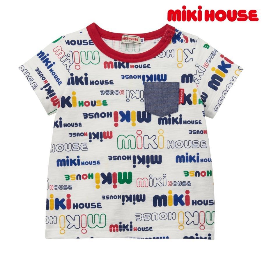 Tシャツ 気質アップ ギフト プレゼント 開店祝い マルチカラー 80 90 100 ミキハウス MIKIHOUSE