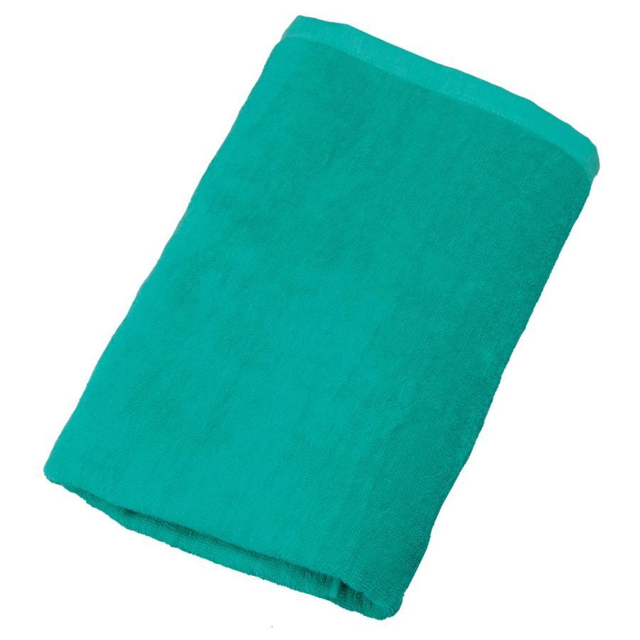 1,000匁スレン染めバスタオル グリーン 60枚