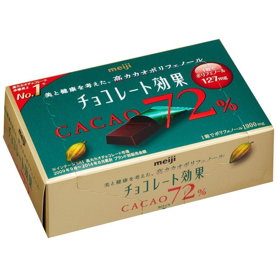 明治チョコレート効果 カカオ72%BOX 75g×5箱 hotlovenetshop