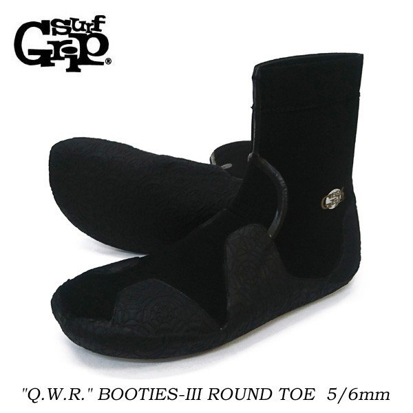 SURF GRIP 防水サーフィンブーツ Q.W.R. BOOTIES-III ROUND TOE 5/6mm 正規品