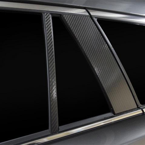 マジカルカーボン ピラー ノーマルカット MAZDA6 ワゴン GJ系 R1.8〜 カーボンシート【ブラック】 ハセプロ CPMA-36|hotroadparts|04