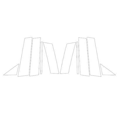 マジカルカーボン ピラー ノーマルカット MAZDA6 ワゴン GJ系 R1.8〜 カーボンシート【ブラック】 ハセプロ CPMA-36|hotroadparts|05