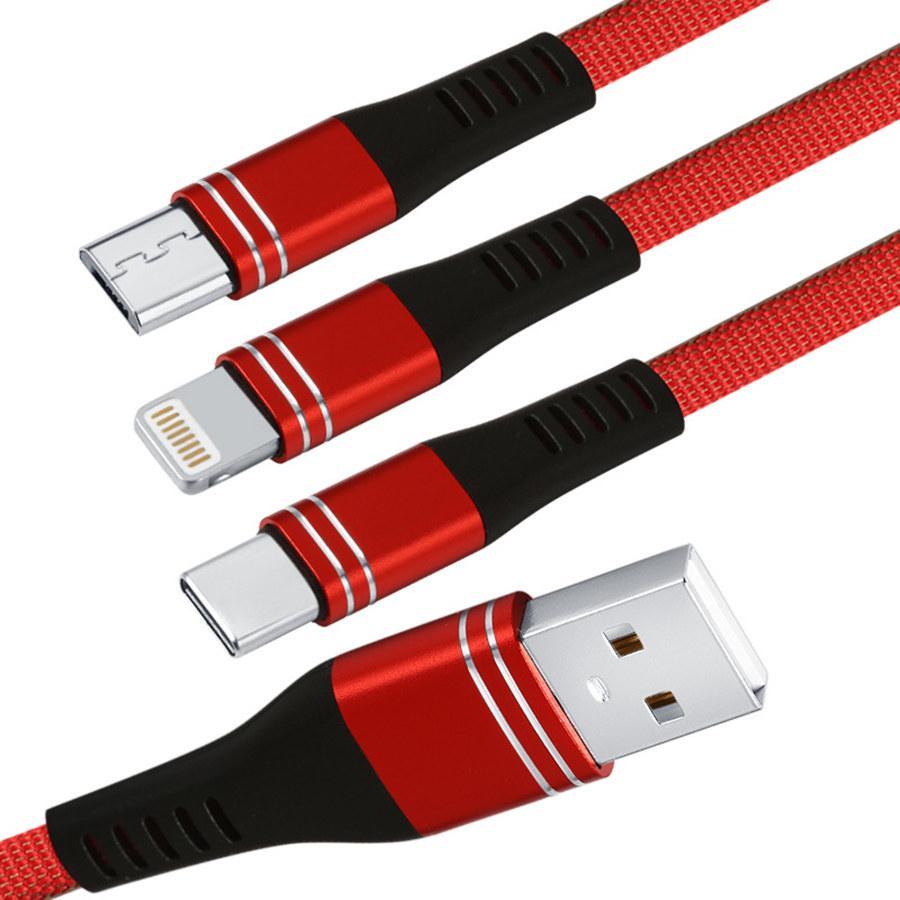 充電ケーブル 3in1 iPhone 充電ケーブル Android タイプc 1.2m スマホ USBケーブル type-c マイクロ モバイルバッテリー 急速充電 対応|hotsale|11