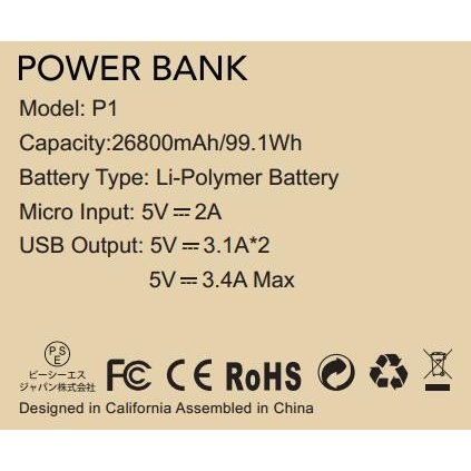 モバイルバッテリー 大容量 急速充電 充電器 26800mAh 急速 充電 iPhone iPad Android 各種対応 バッテリー hotsale 11