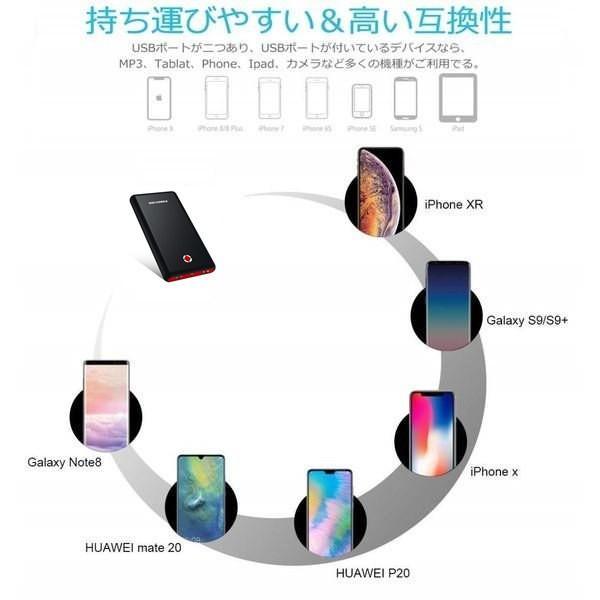 モバイルバッテリー 大容量 急速充電 充電器 26800mAh 急速 充電 iPhone iPad Android 各種対応 バッテリー hotsale 08
