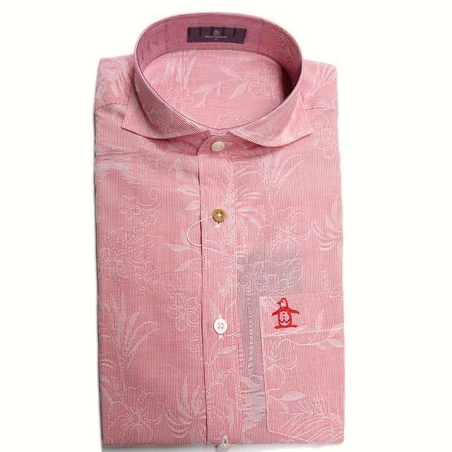 30%OFFセール マンシングウェア メンズ  オープンシャツ レッド 赤 2019年春夏新作 MGMNJA71