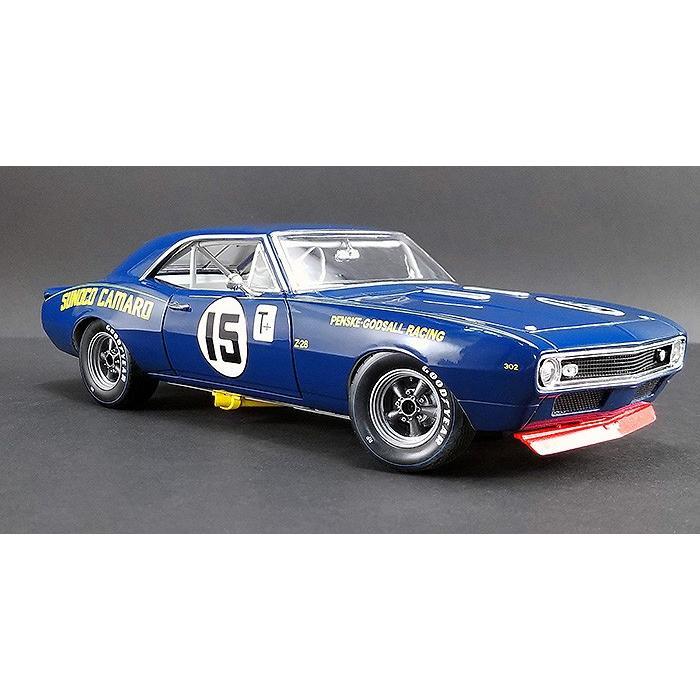 ミニカー 1/24 GMP 1967 SUNOCO カマロ ブルー スノコレーシング #15 Mark Donohue - Sunoco Penske Racing  予約商品