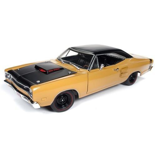 ミニカー 1/18 AUTOWORLD  1969 ダッジ・コロネット・スパービー 黄色 Dodge Coronet Super Bee   1000台限定予約商品