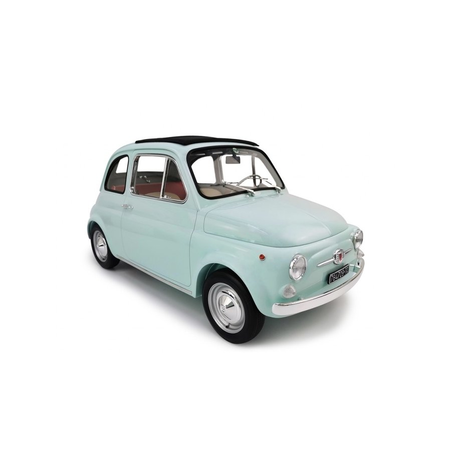 イタリアのモデルメーカーによる、本物に忠実に仕上げられたビッグサイズのモデルです 巨大ミニカー  1/6 フィアット500 F 1965  水色 限定予約商品
