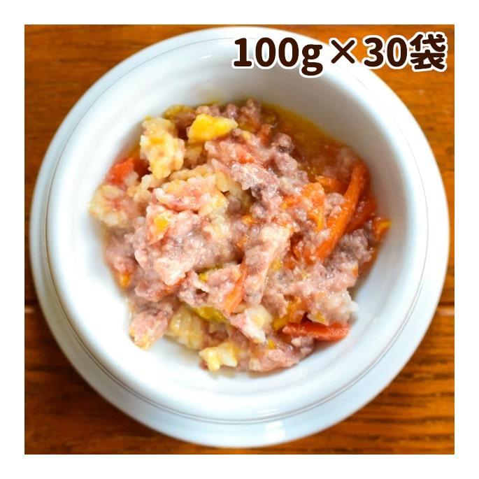 愛犬の安心レトルトごはん 低カロリー馬肉とかぼちゃのミルクがゆ100g 100袋セット 1ケース 犬用 無添加 国産