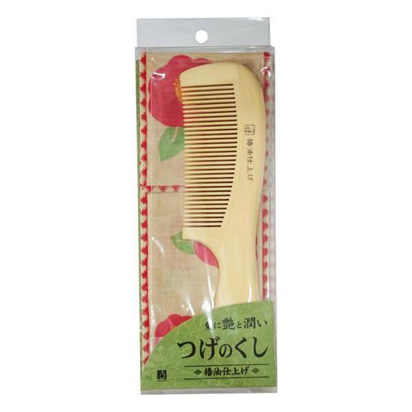 つげの手付きくし携帯袋付き 人気ショップが最安値挑戦 椿 日本