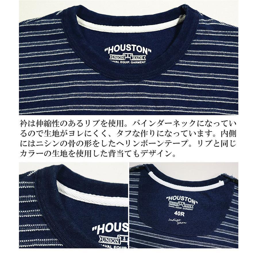 HOUSTON / ヒューストン 21786  INDIG BORDER JACQUARD TEE/ インディゴボーダー ジャガード Tシャツ -全2色- houston-1972 06