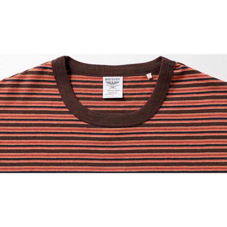 HOUSTON / ヒューストン 21956  ECOPLUS MULTI BORDER HEAVY TEE / エコプラス マルチボーダー ヘビーTシャツ -全2色-|houston-1972|06