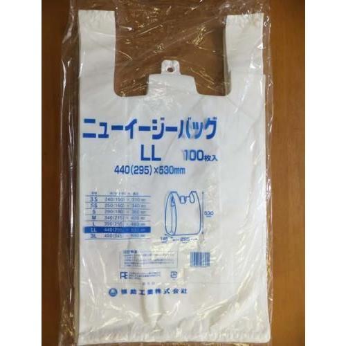 【店舗名等必要】福助工業 ニューイージーバッグ LL(No.45) 乳白 厚さ0.017×440×530mm 1ケース1000枚入り houzainokura