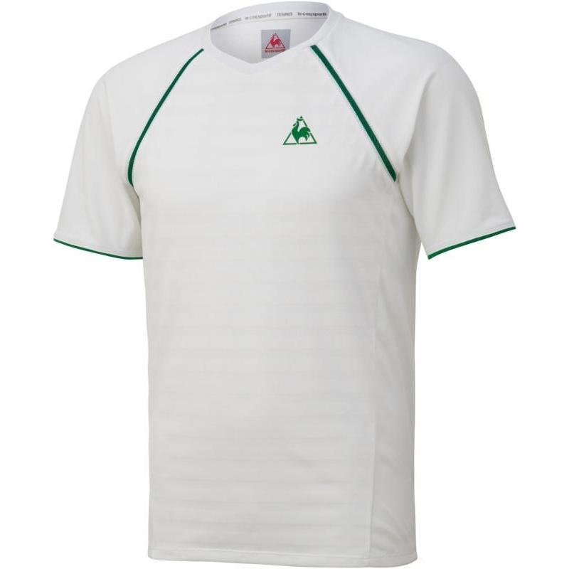 le coq sportif(ルコック) 半袖シャツ QTMNJA08 WHT ホワイト M