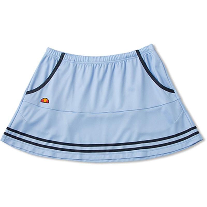 Ellesse(エレッセ) 【レディース テニスウェア】 TEAM スカート ETS2750L ブラシットブルー×ネイビー L