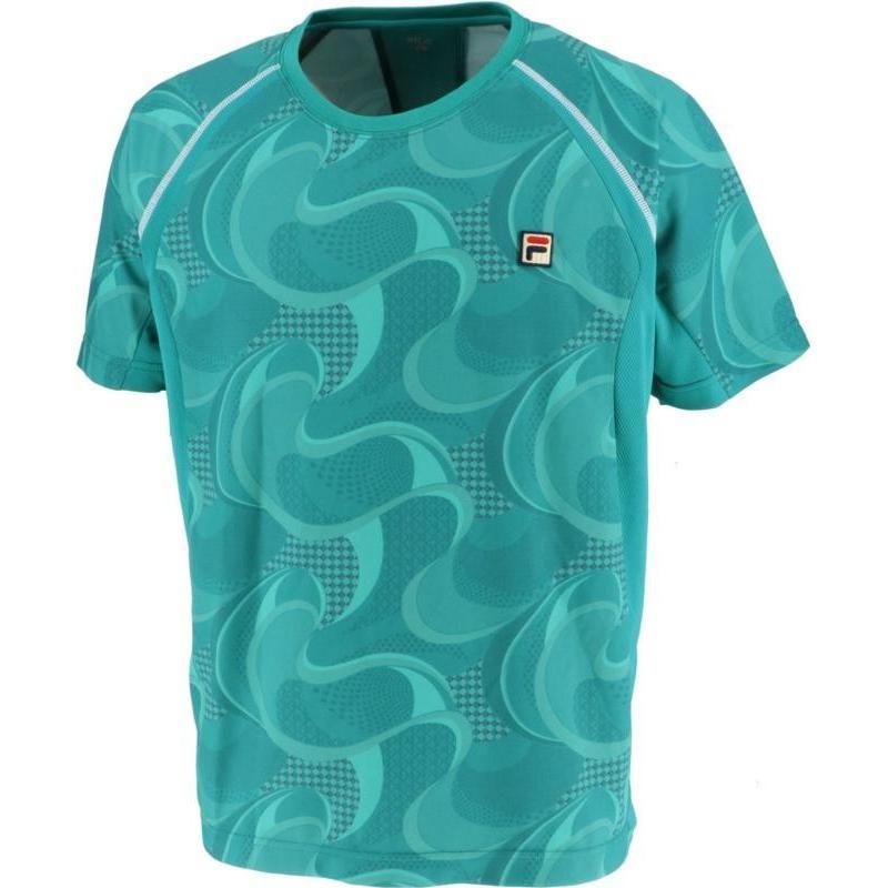 FILA(フィラ) ゲームシャツ レディース VM5434 ダークグリーン XL