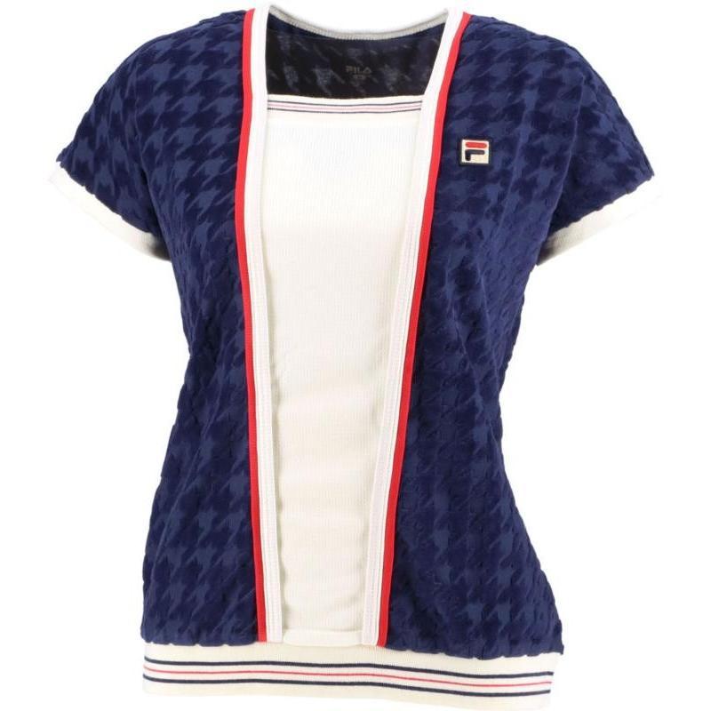 FILA(フィラ) ゲームシャツ レディース VL2037 フィラネイビー M