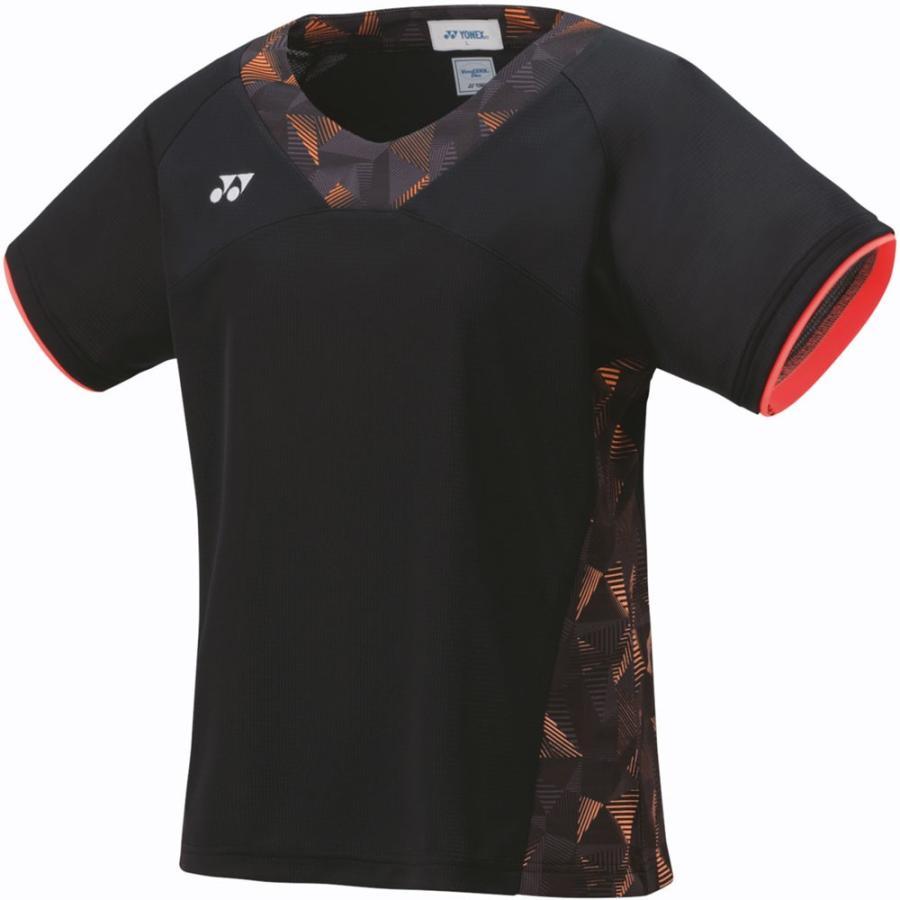 Yonex(ヨネックス) ゲームシャツ ウィメンズ 20481 ブラック/オレンジ L