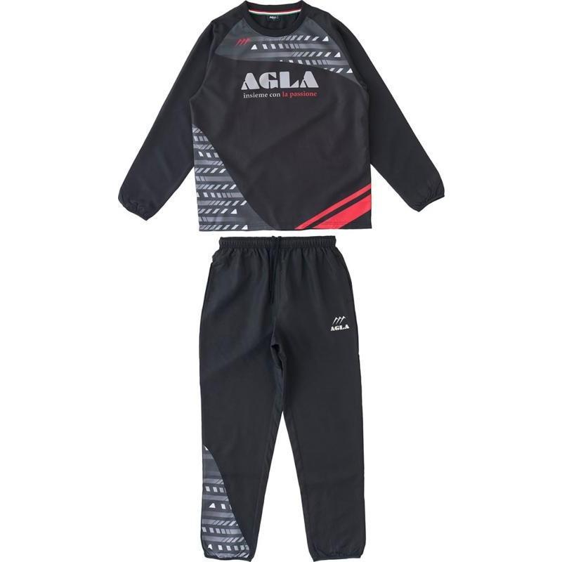 AGLA(アグラ) ピステスーツ AG18270 ブラック L