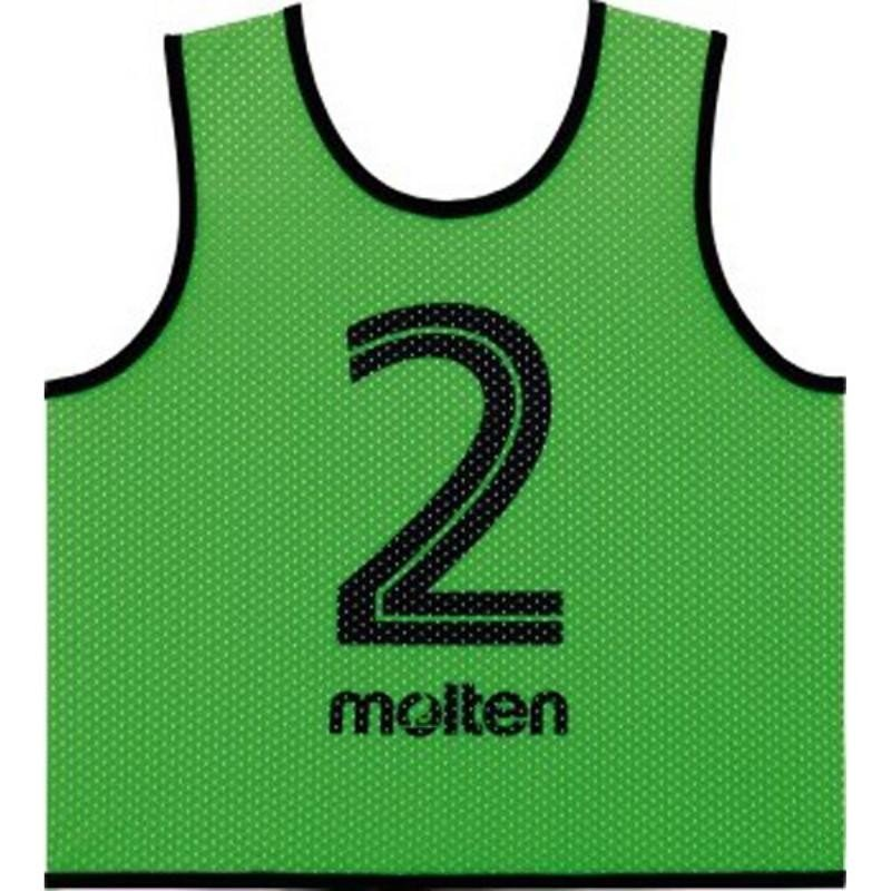 モルテン(molten) ゲームベストGVジュニア(2番〜11番) 10枚セット GS0112KG 蛍光グリーン