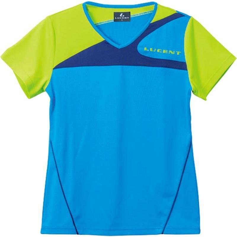 LUCENT(ルーセント) レディース テニス ゲームシャツ ブルー XLH2257 ブルー XO