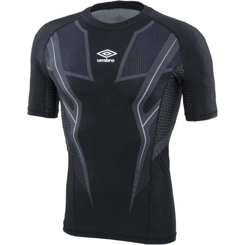UMBRO(アンブロ) TR ハーフスリーブインナーシャツ byG UUUOJM01 BLK ブラック S