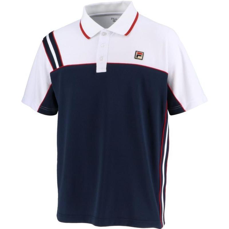 FILA(フィラ) ゲームポロシャツ メンズ VM5432 フィラネイビー L