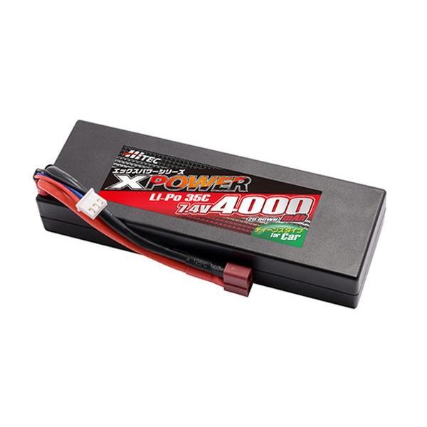 HiTEC ハイテック XPOWER Li-Po 7.4V 4000mAh 35C バッテリー hs-hobby