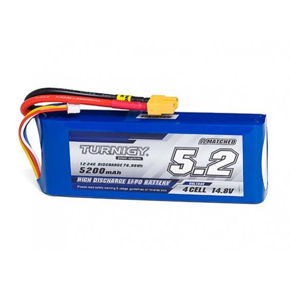 Turnigy 14.8V 5200mAh 12C24C リポ リチウムポリマー バッテリー