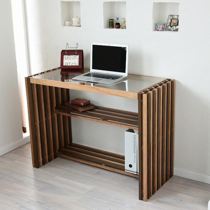PCデスク 木製デスク 学習 テーブル リビング 天然木 北欧 木製 シンプル おしゃれ FOREST 100