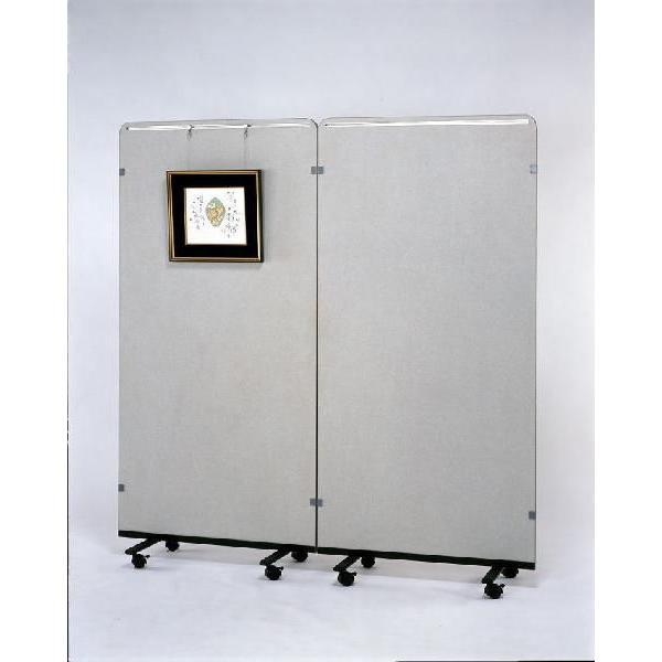 アートギャラリー展示パネルDX(展示板·パーティーション) 900×1800 片面ピクチャーレール付(※写真は2台の使用例です)(HSS-P)