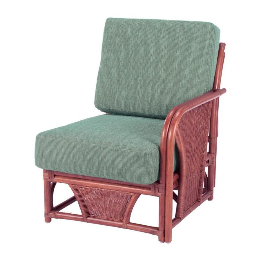 (送料無料)今枝ラタン 籐 アームチェア 肘付き椅子(ワンアームタイプ) スコルピス A-600-3D