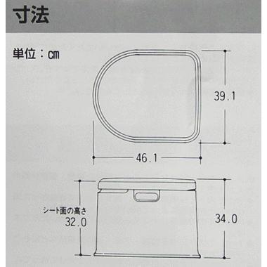ポータブルトイレ 山崎産業 ポータブルトイレP型 カラー/ホワイト サービス品付 PT-P11(送料無料)|hstsuge|04