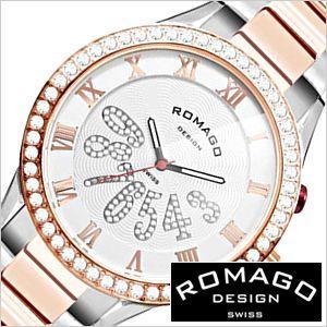 【日本限定モデル】 ロマゴ デザイン 腕時計 ROMAGO DESIGN 時計 ラグジュアリー シリーズ RM019-0214SS-RGWH メンズ レディース ユニセックス 男女兼用, セルフィユ公式EC a5cd7c96