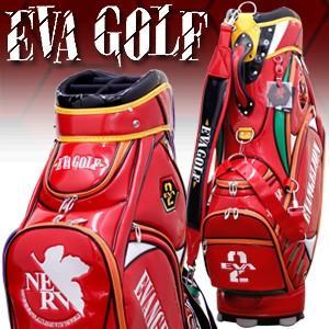 EVANGELION GOLF エヴァンゲリオンゴルフ 限定 キャディバッグ 弐号機 2号機 EVAGOLF エヴァゴルフ ゴルフバッグ ゴルフ用品