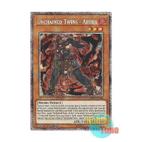 遊戯王 英語版 CHIM-EN008 Unchained Twins - Aruha 破械童子アルハ (プリズマティックシークレットレア) 1st Edition
